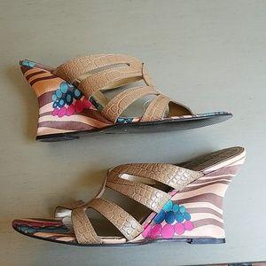 Carlos Santana Wedge Sandals 8.5M